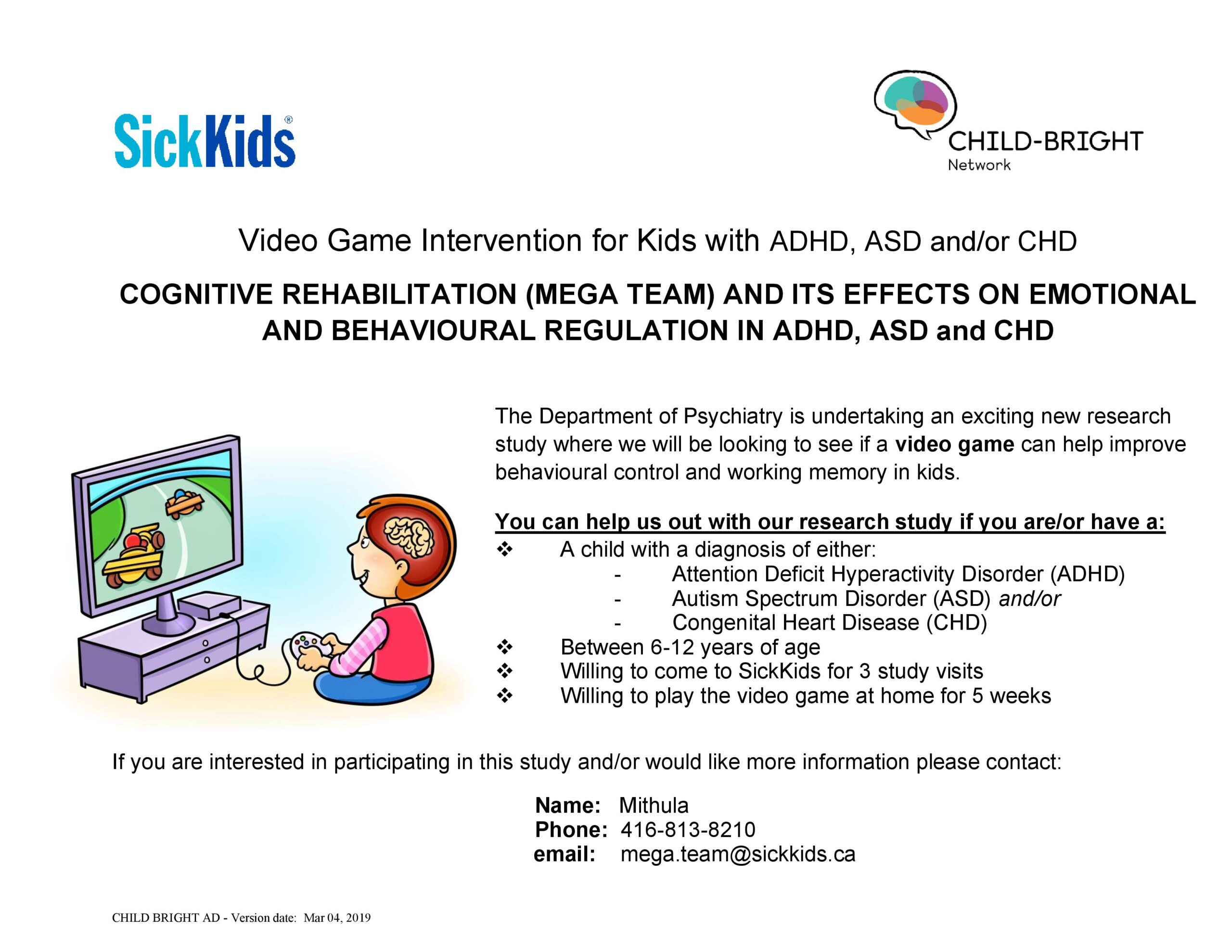 Sick Kids Has a Great Research Project